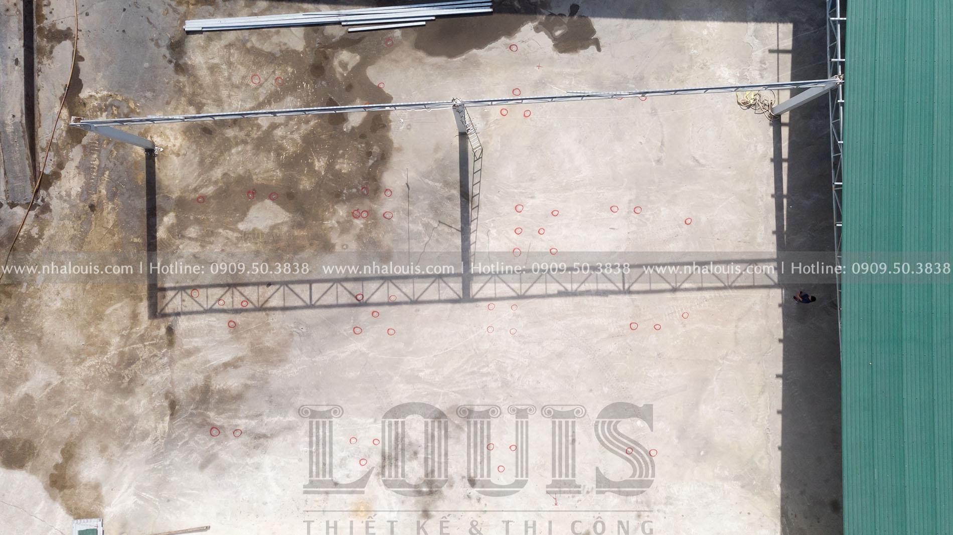 Khởi công ép cọc biệt thự 4 tầng cổ điển bề thế tại Đồng Tháp