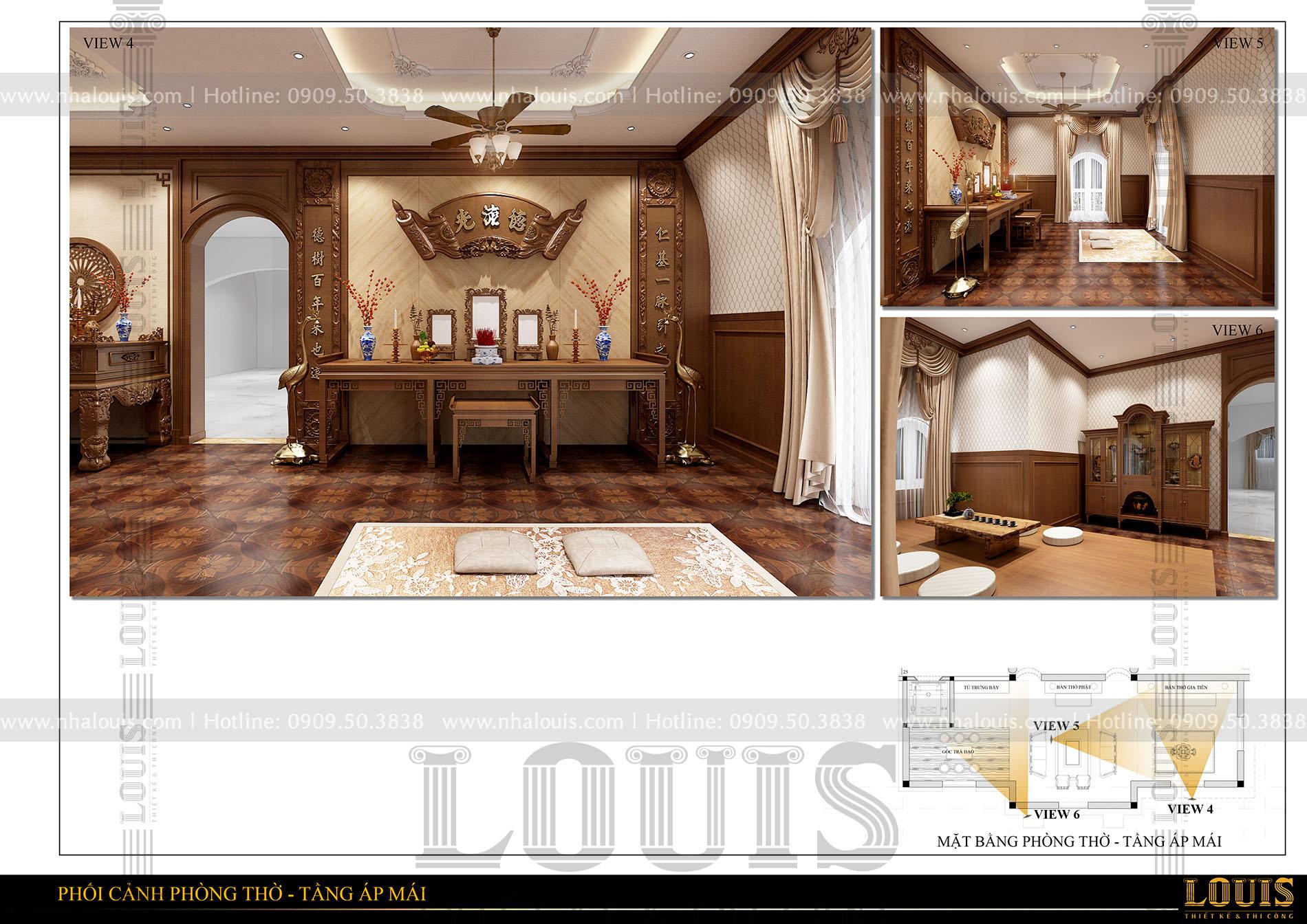 thiết kế biệt thự cổ điển 5 tầng có tầng hầm tại đaklak