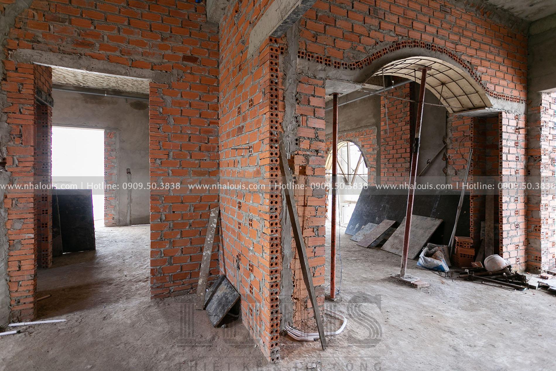 Tạo hình mặt tiền, xây phòng chức năng cho biệt thự Bến Tre