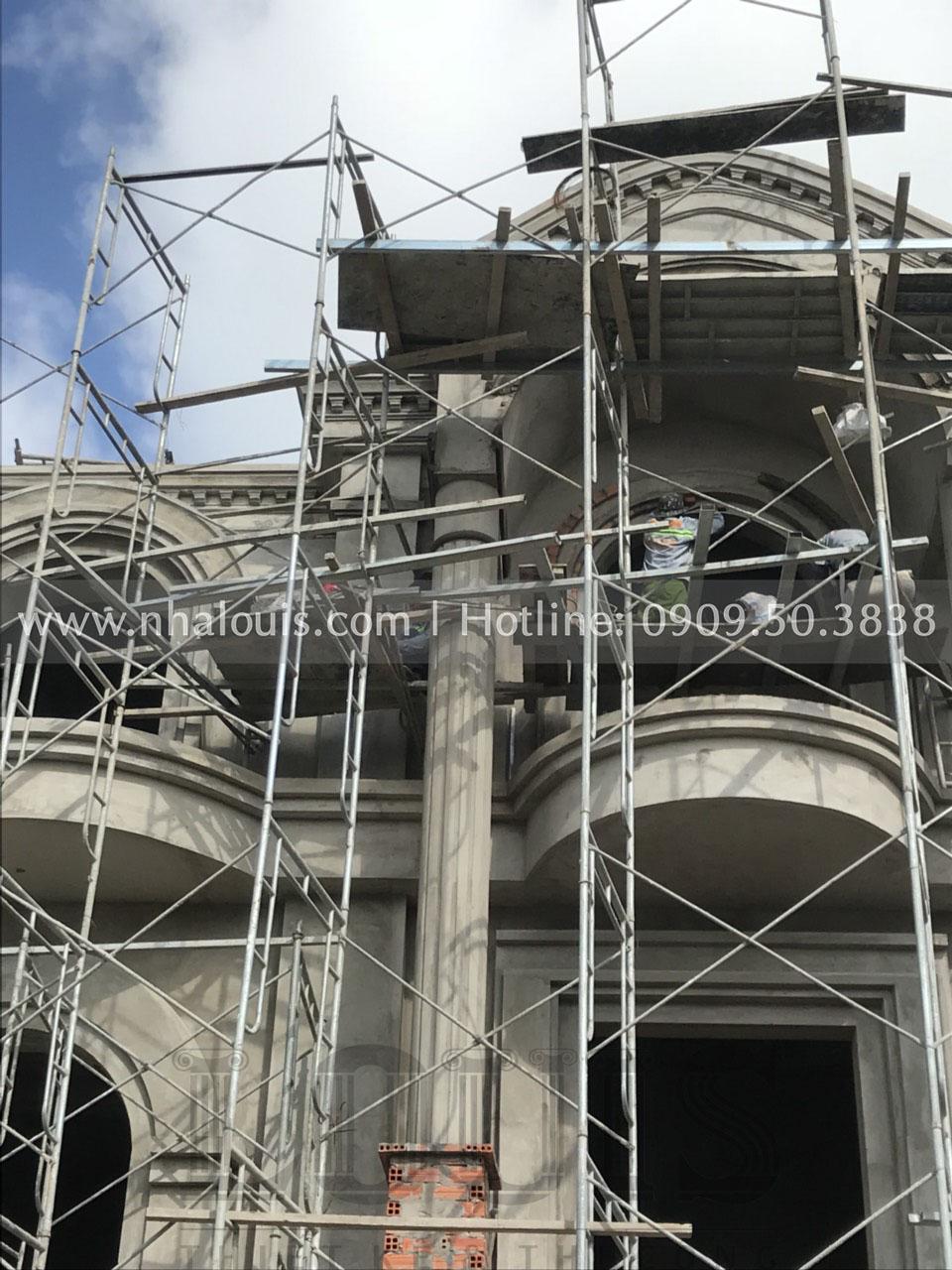 thi công tạo hình mặt tiền biệt thự cổ điển Bến Tre