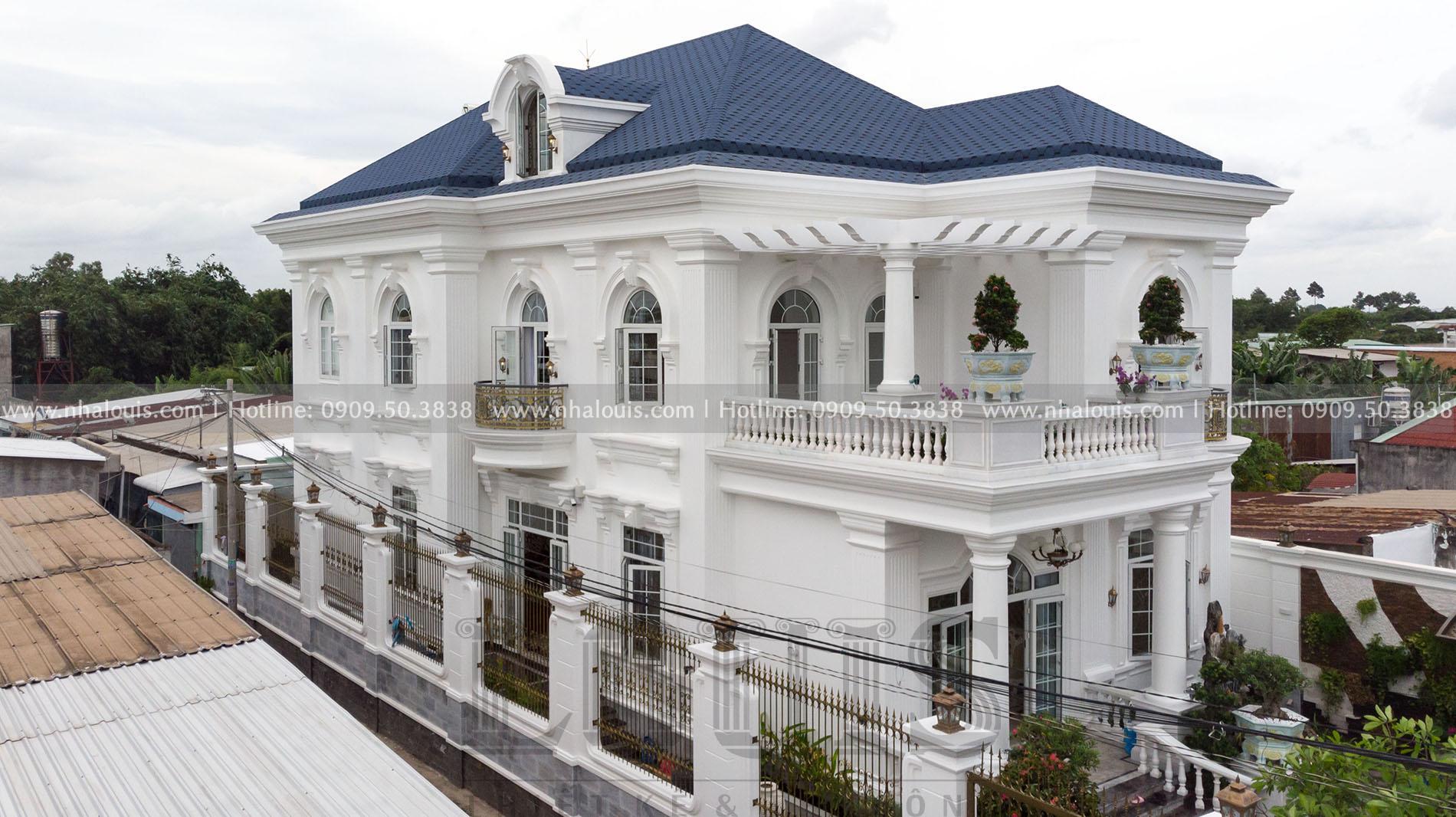 mặt tiền biệt thự 3 tầng tân cổ điển củ chi