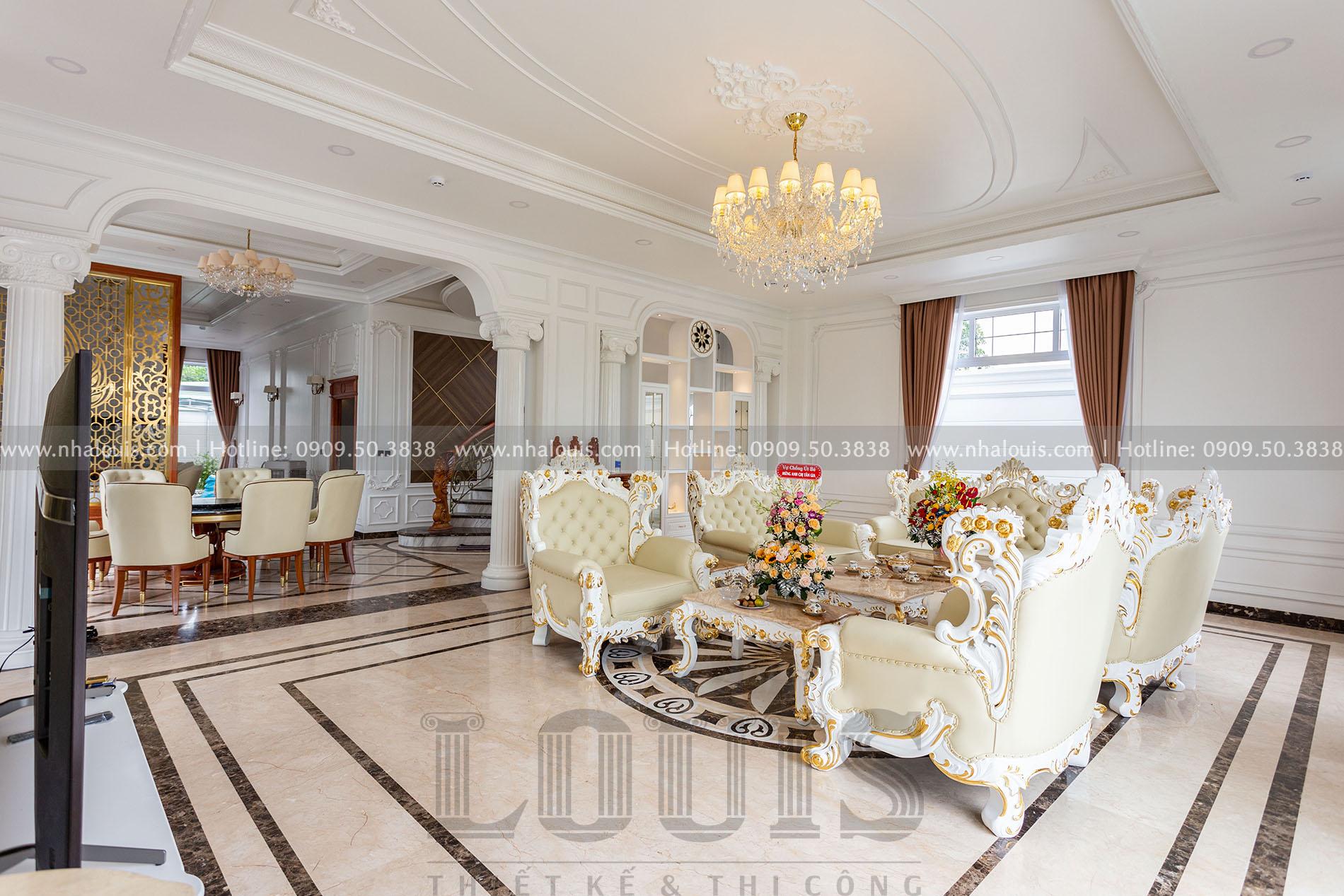 Phòng khách biệt thự tân cổ điển Củ Chi