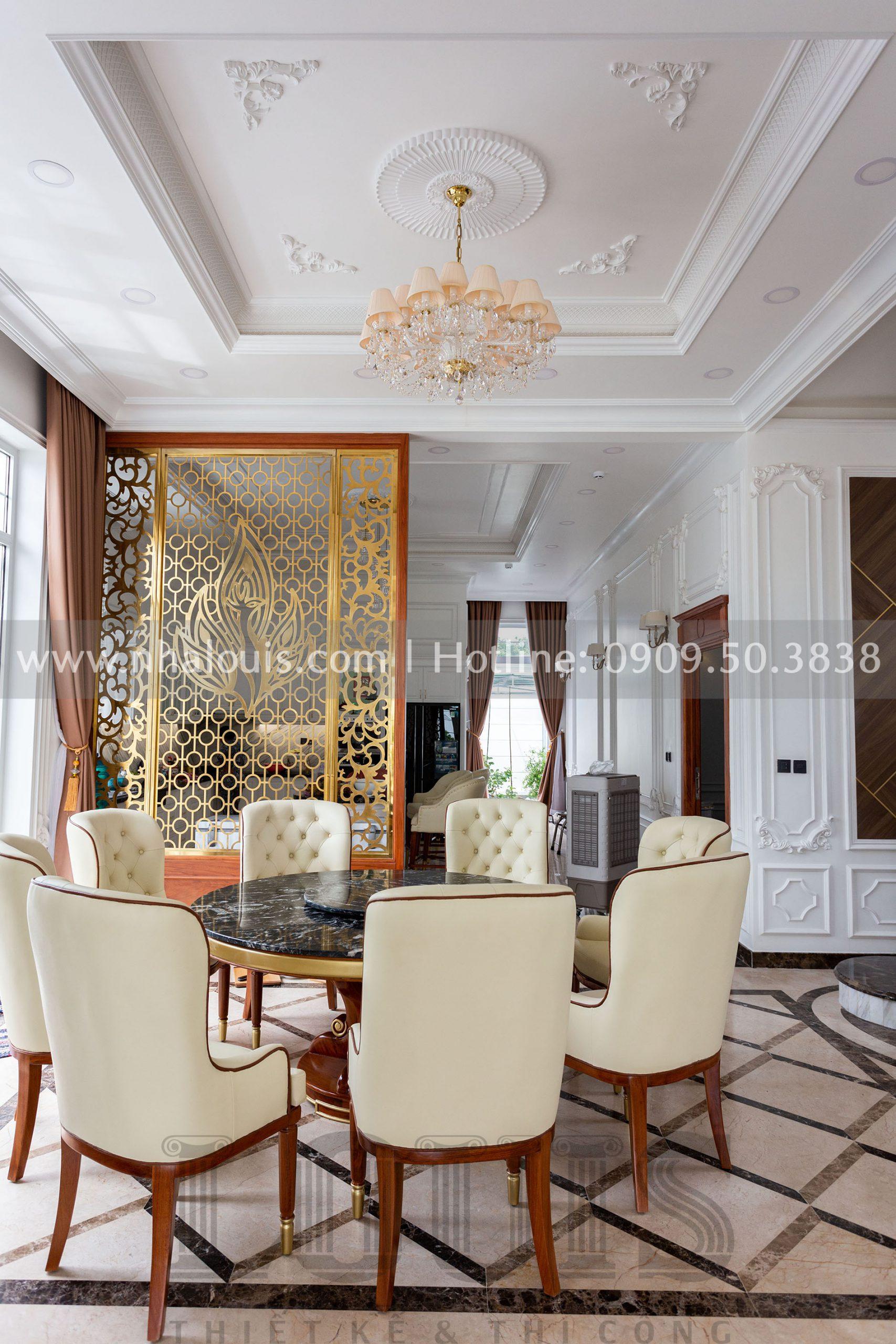 Phòng ăn biệt thự tân cổ điển
