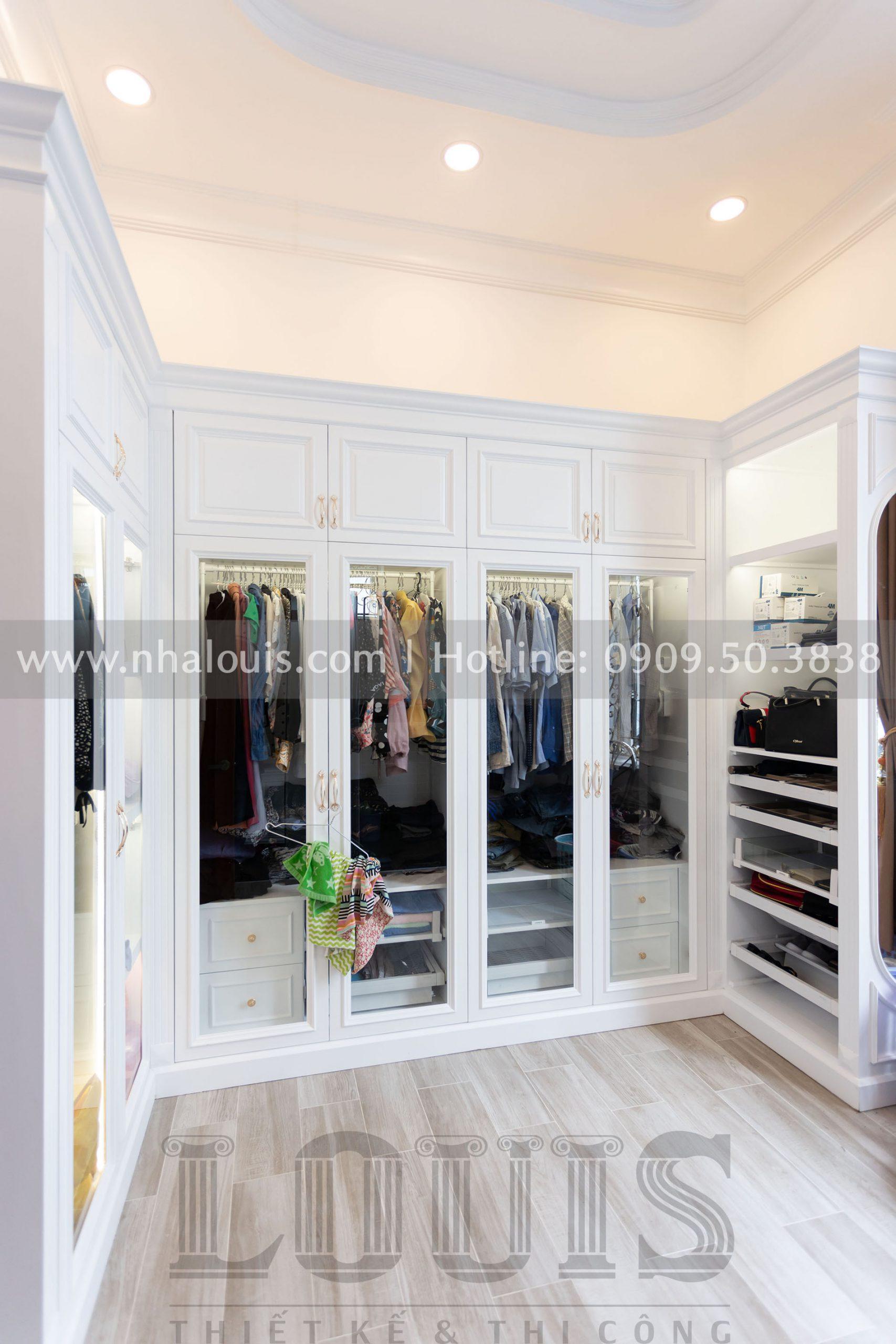 Phòng thay đồ Phòng ngủ master biệt thự tân cổ điển tại Cũ Chi