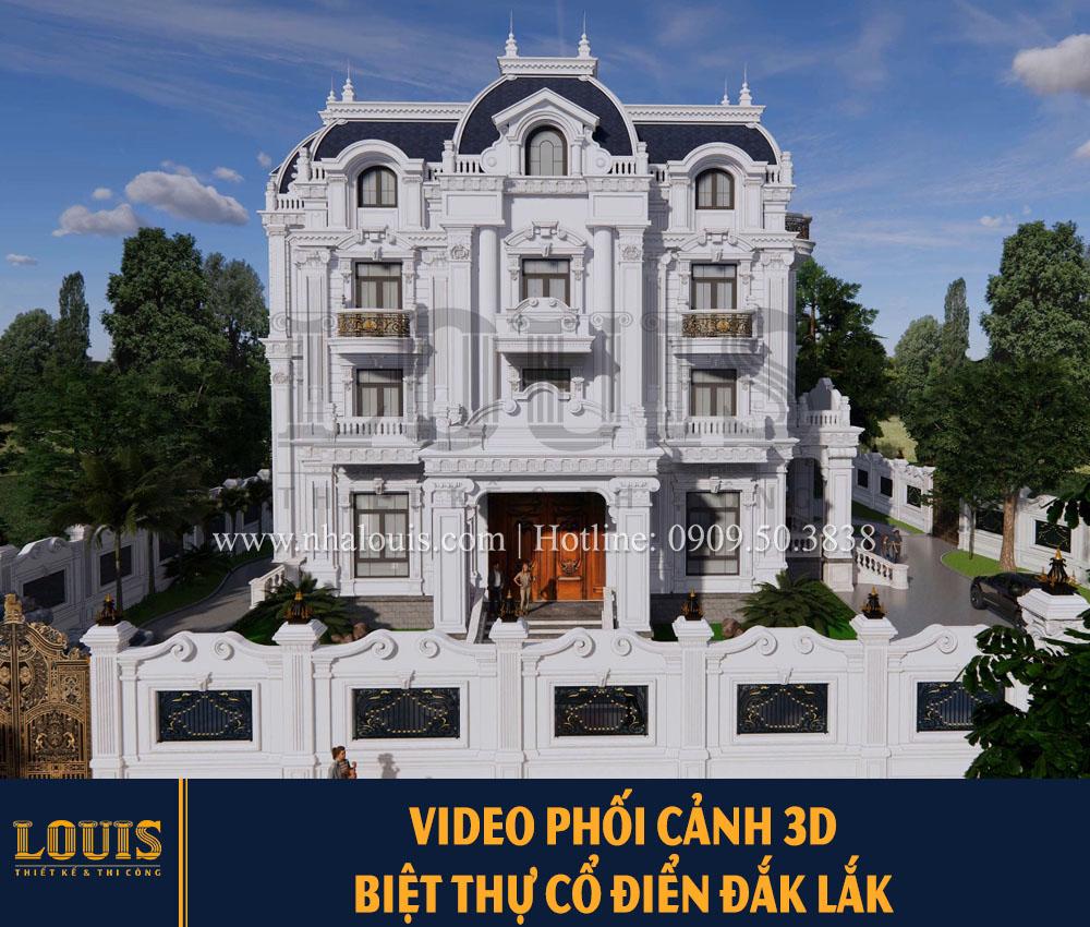 Phối cảnh 3D biệt thự cổ điển đẳng cấp tại Đắk Lắk [Videp]