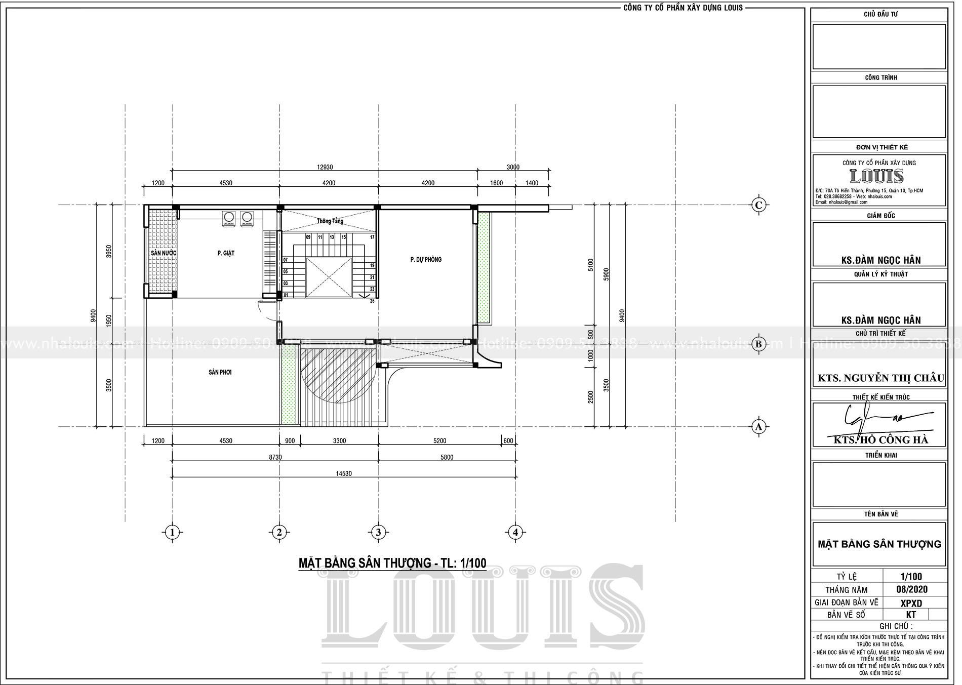 thiết kế nhà phố 4 tầng mặt tiền 9m tại quận 12