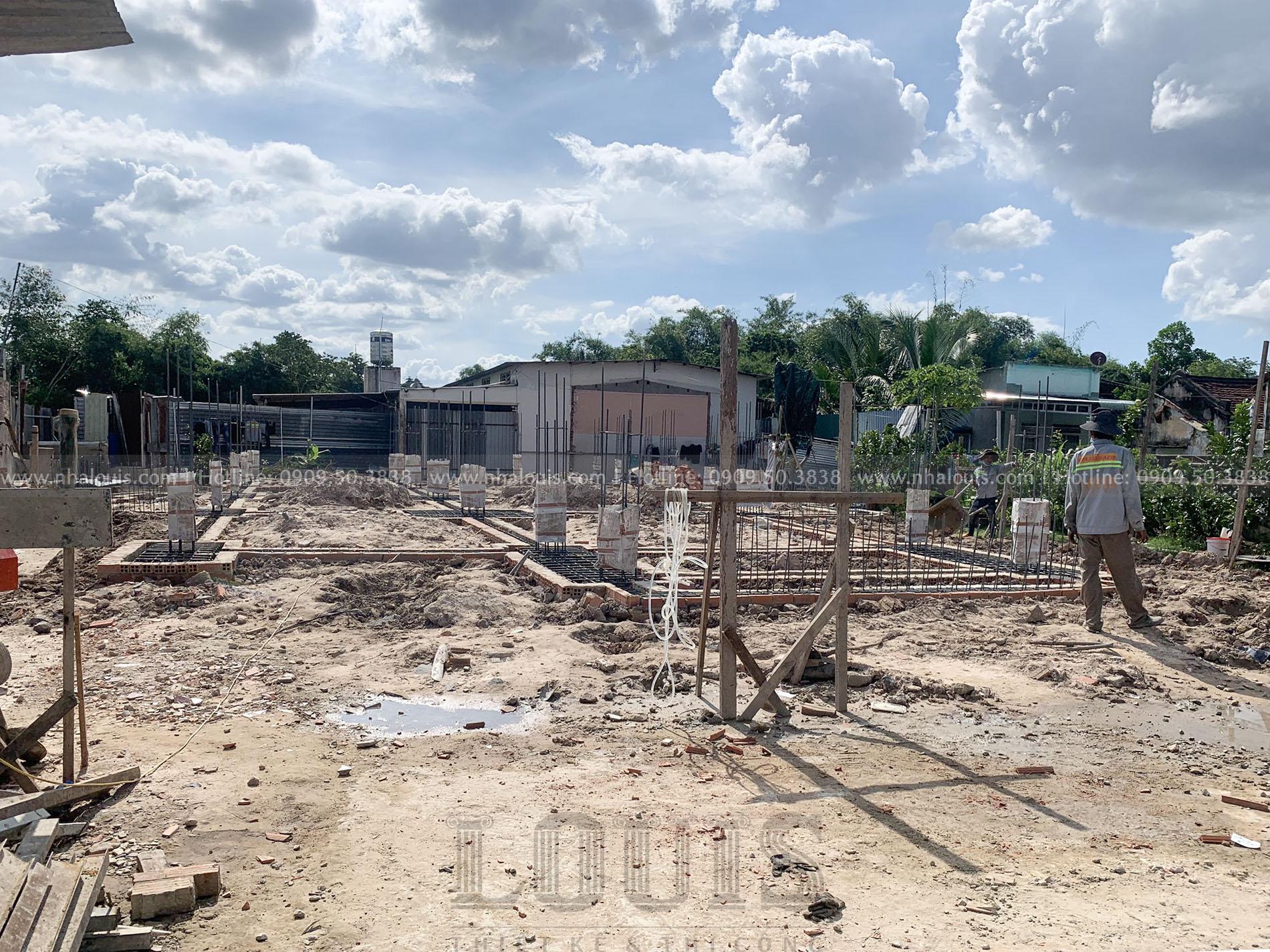 Thi công đổ bê tông móng biệt thự Tây Ninh