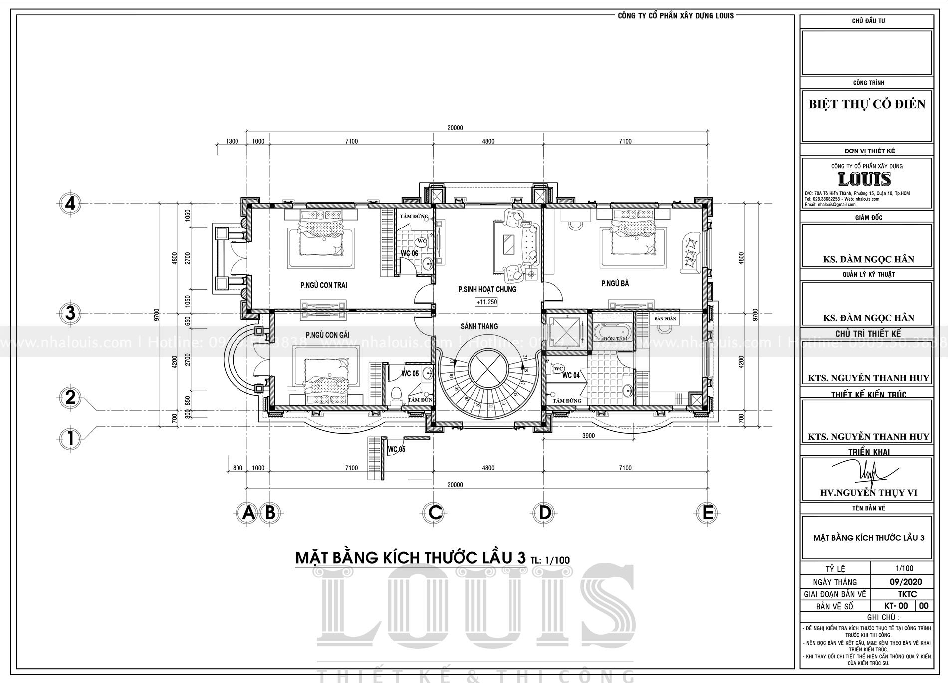 thiết kế biệt thự cổ điển 5 tầng sang trọng tại đồng nai