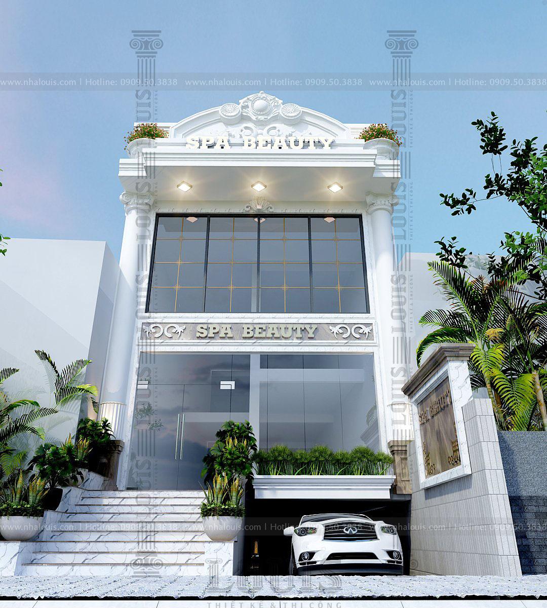 thiết kế biệt thự kết hợp kinh doanh spa