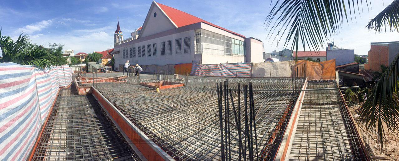 Thi công sắt sàn tầng 1 biệt thự cổ điển Đồng Nai