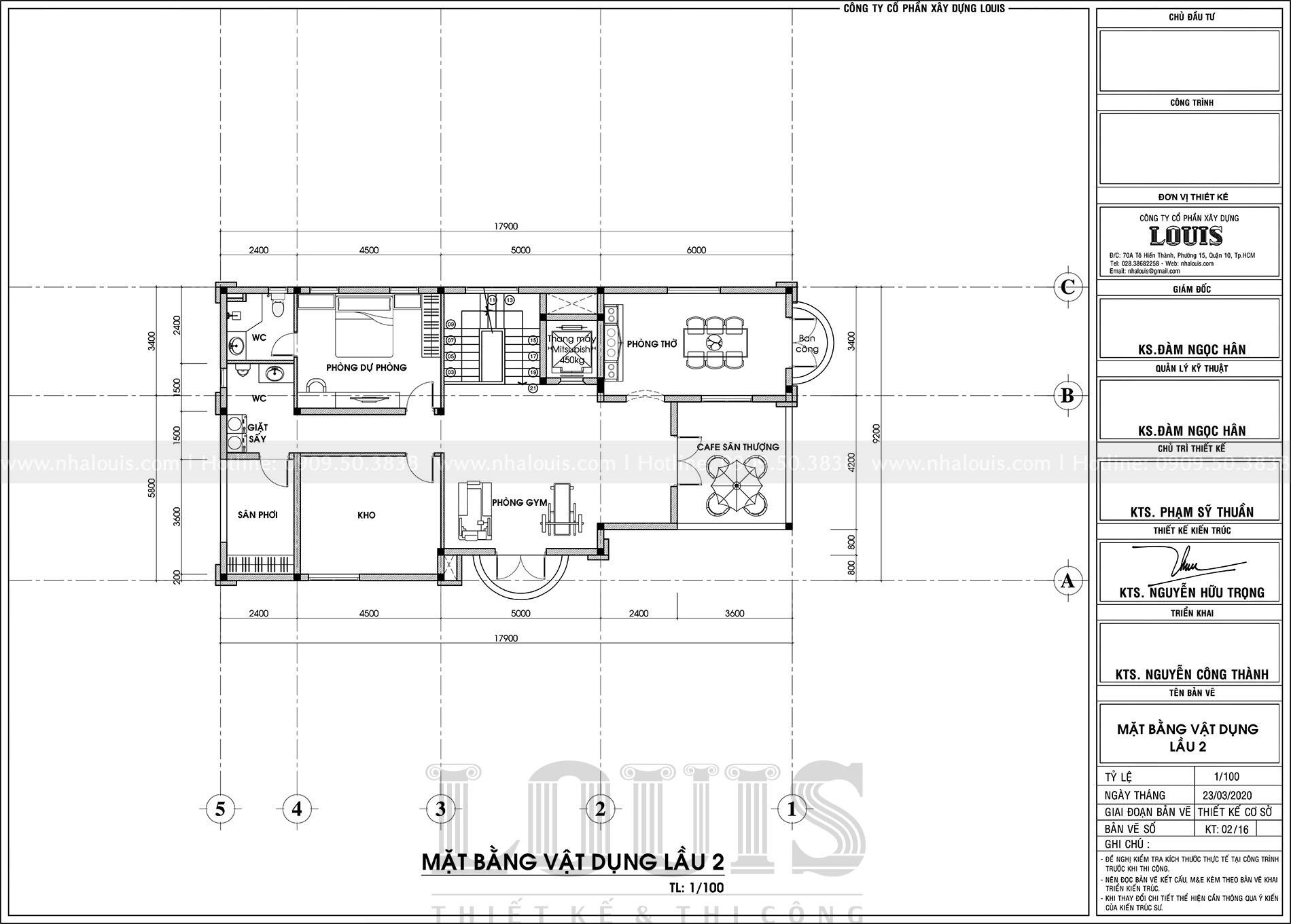 thiết kế biệt thự 1 tệt 2 lầu tân cổ điển tại tân an