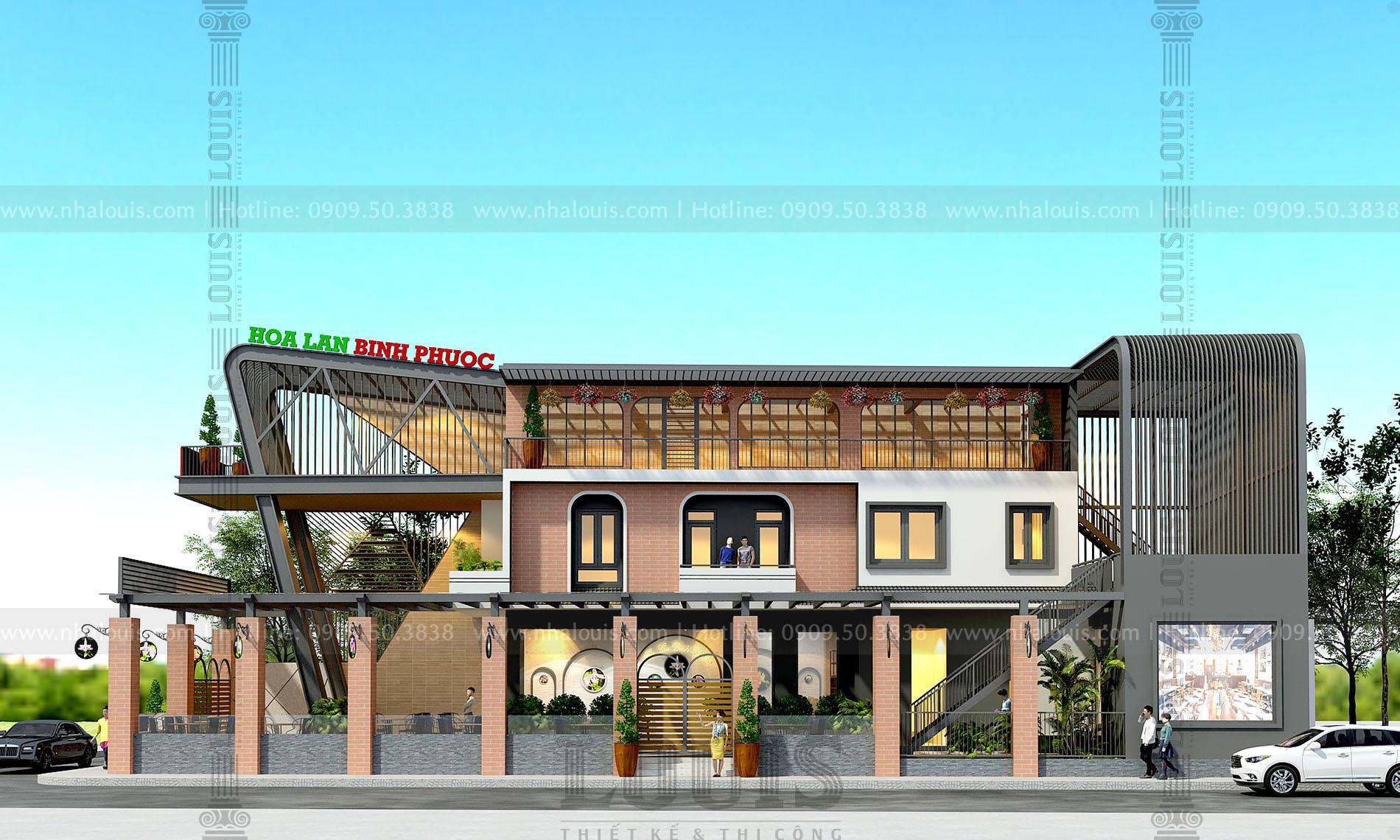 thiết kế cải tạo quán coffee hiện đại 2 tầng tại thủ dầu một