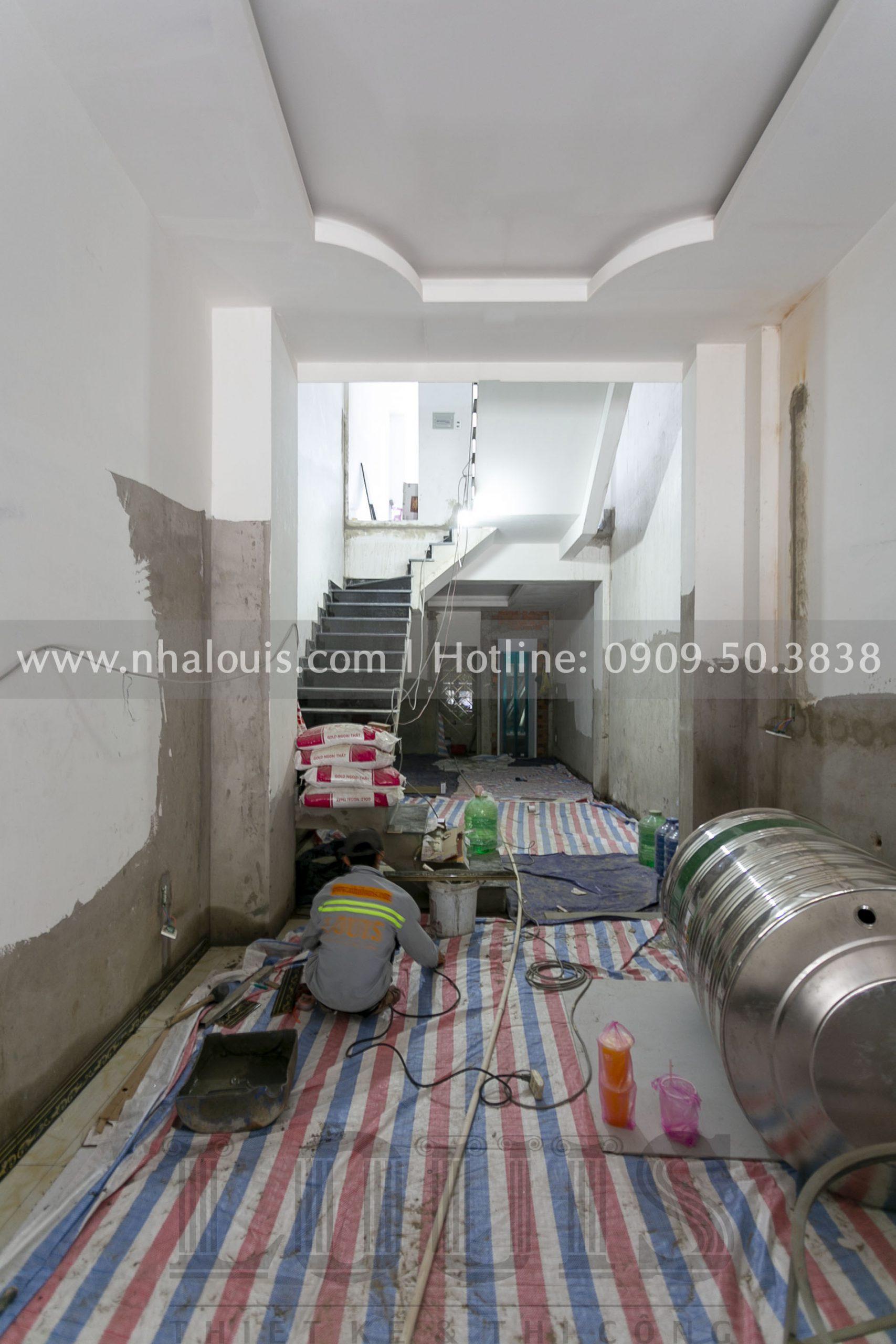 Thi công nhà phố 4 tầng mặt tiền 3,5m tại Tiền Giang
