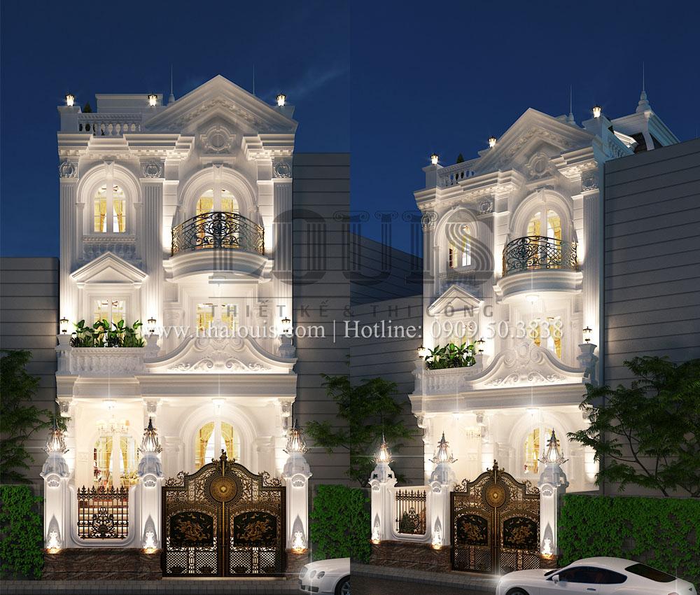 thiết kế nhà phố 5 tầng cổ điển mặt tiền 7m tại quận 11
