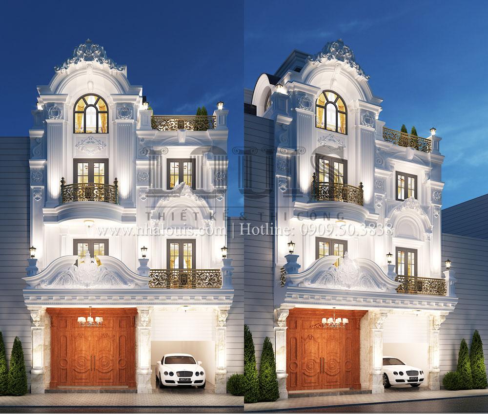 Thiết kế biệt thự phố cổ điển 4 tầng mặt tiền 8m tại Nha Trang