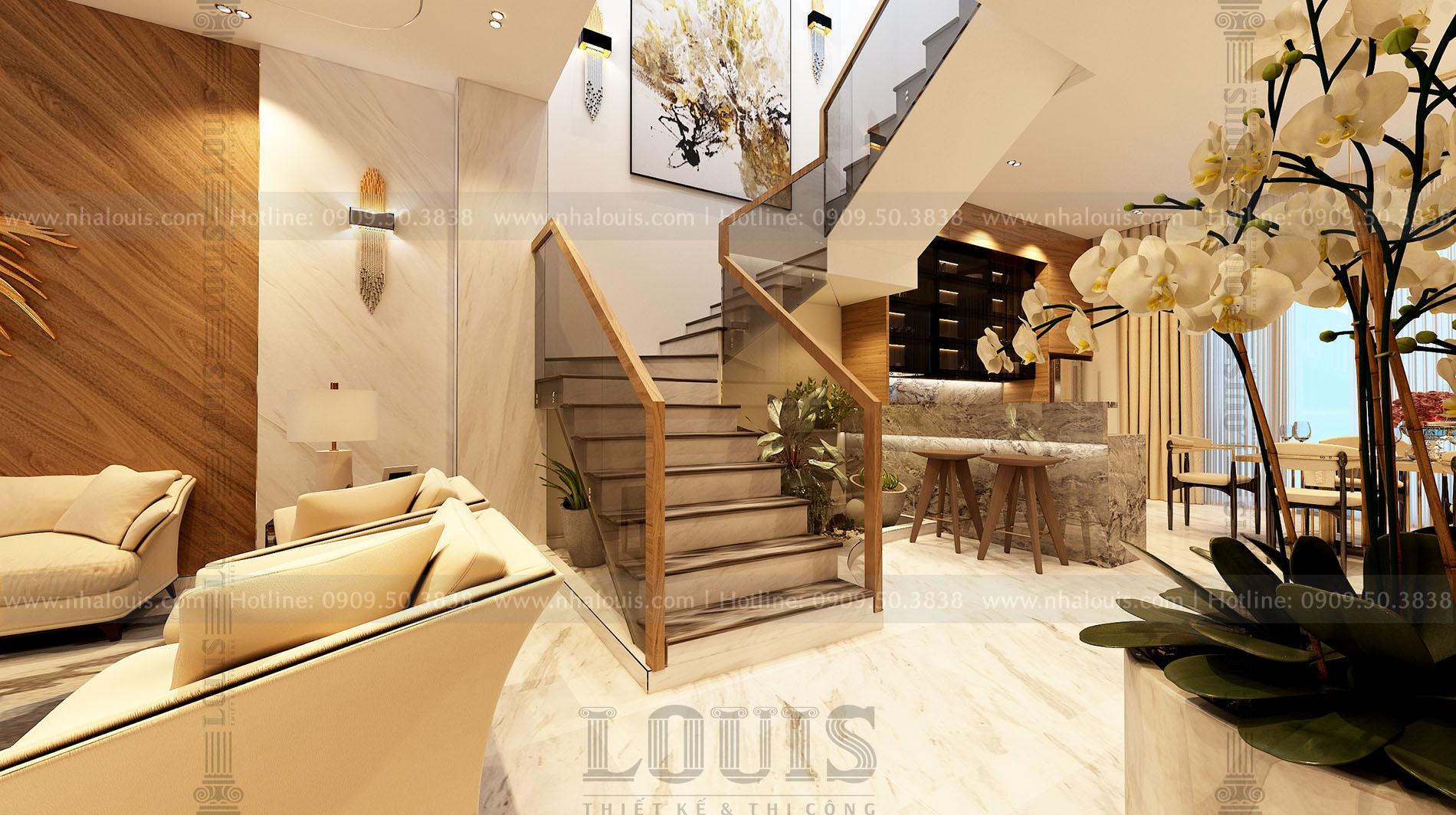 Thiết kế cải tạo nội thất nhà phố 2 tầng phong cách hiện đại tại Bình Dương