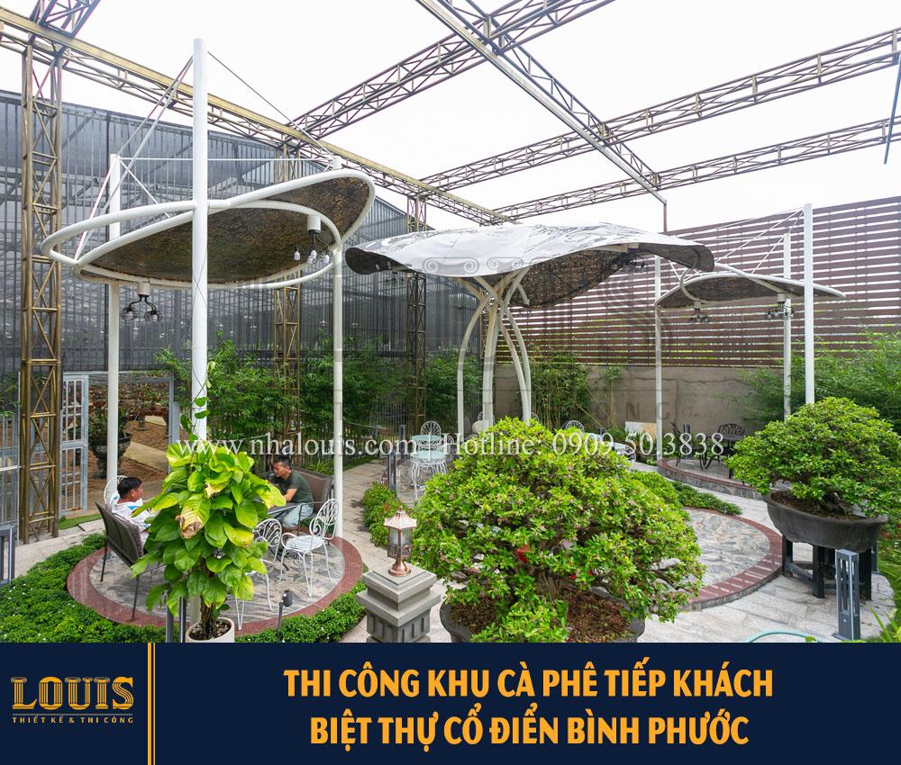 Thi công xây dựng khu vực cà phê tiếp khách cho siêu biệt thự Hoa Lan Bình Phước [Video]